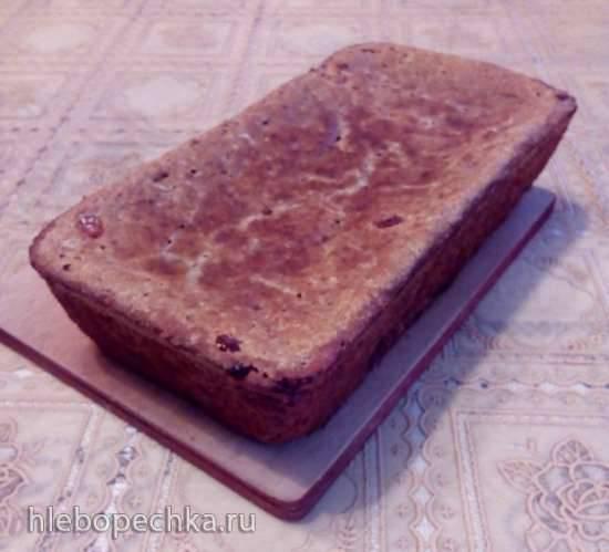 Цельнозерновой хлеб с изюмом на быстрой кефирной закваске
