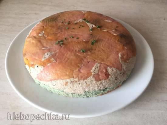 Торт творожный закусочный (по мотивам соленой пасхи)