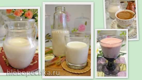Растительное молоко и сливки для веганов из шрота кедрового ореха