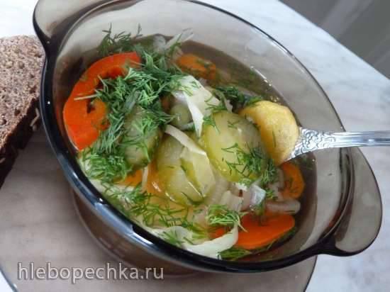 Овощной крем-суп  с курицей  для мультиблендера  Profi Cook РС МСМ 1024