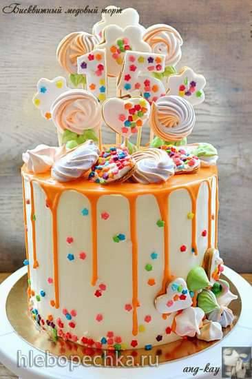 Бисквитный медовый торт