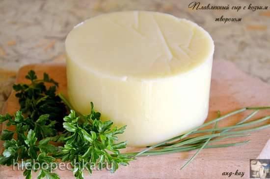 Плавленный сыр с козьим творогом в мультиварке