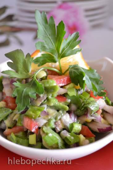 Сальса овощная с авокадо для перекуса Сальса овощная с авокадо для перекуса