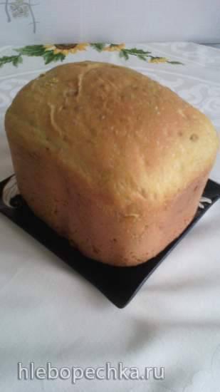 Хлеб с карри и подсолнечником