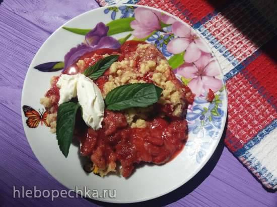 Фруктово-ягодный крамбл в Тортилке (Tortilla Chef 118000 Princess) Клубничный крамбл