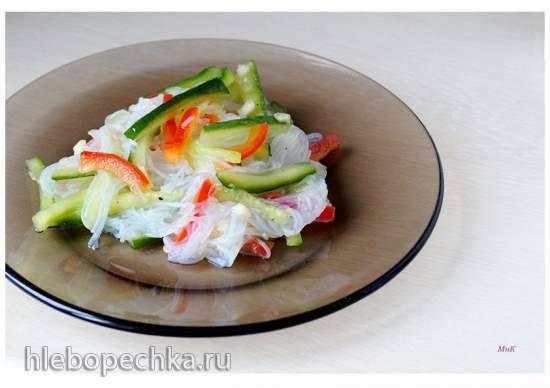 Салат из рисовой лапши с овощами Салат из рисовой лапши с овощами