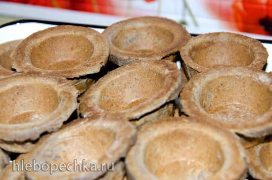 Тарталетки с льняной и рисовой мукой