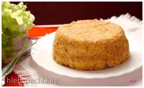Тапамцвари: запеканка с сыром на кукурузной крупе Тапамцвари: запеканка с сыром на кукурузной крупе