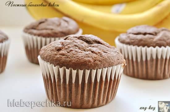 Кексы банановые с шоколадом и вишней