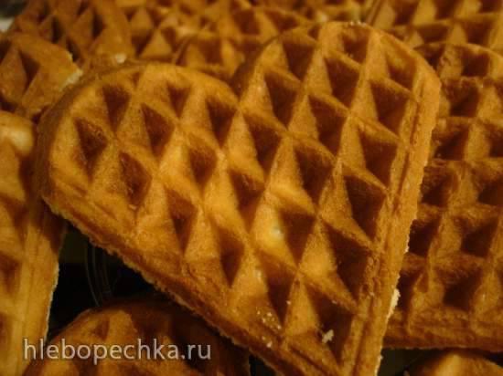 Вкуснющие рассыпчатые вафли-печенье