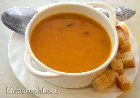 Крем-суп грибной с белой фасолью в блендере-суповарке Endever Skyline BS-90