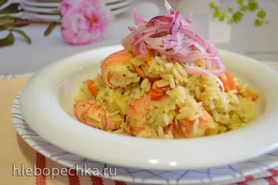 Молодая капуста, тушеная с рисом и креветками Молодая капуста, тушеная с рисом и креветками