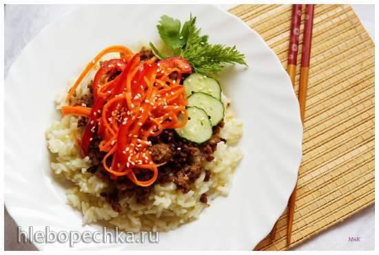 Рис с мясом и овощами Рис с мясом и овощами