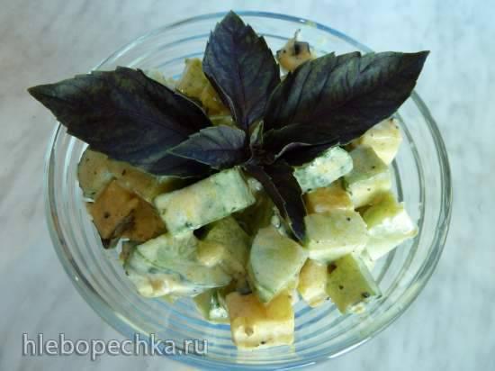 Огуречно-сырный салат Огуречно-сырный салат