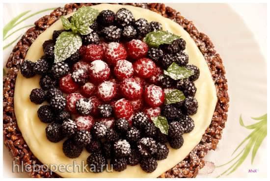Ягодный десерт с заварным кремом Ягодный десерт с заварным кремом