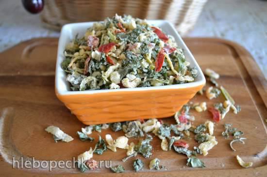 Соль кулинарная «базилик-чеснок-перец чили»