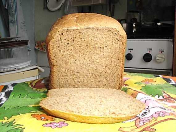 Пшенично-ржаной быстрый «черный» хлеб (хлебопечка)