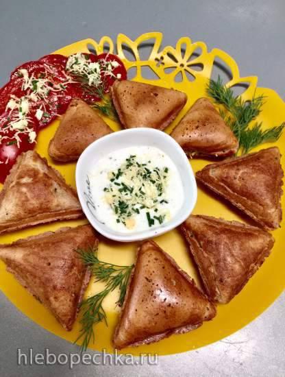 Неклассические пирожки с яйцом, зеленым луком и сыром для мечтающих о пирожках
