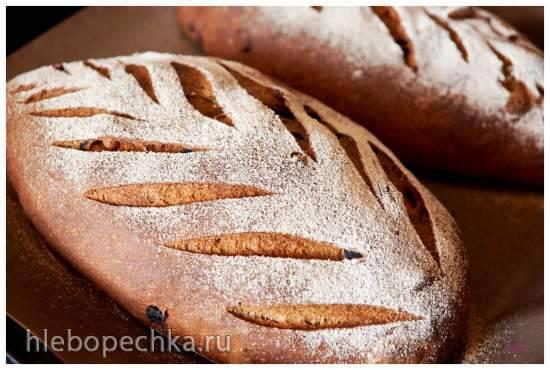 """Хлеб пшенично-ржаной с вишней """"Бессея"""" и арахисом"""