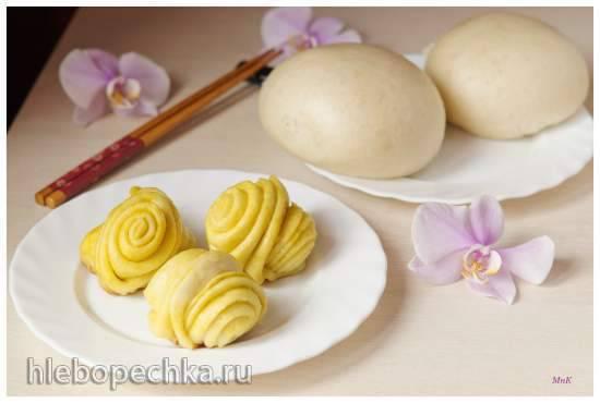 Булочки хлебные, приготовленные на пару в сковороде и в пароварке Булочки хлебные, приготовленные на пару в сковороде и в пароварке