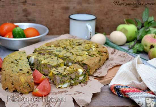 Пирог-запеканка с печенью