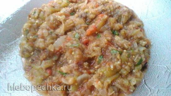 Икра из овощей, запеченных в медленноварке Kitfort KT 2010