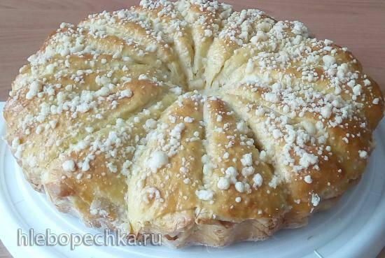 """Дрожжевой пирог """"Яблочные РожкИ"""""""