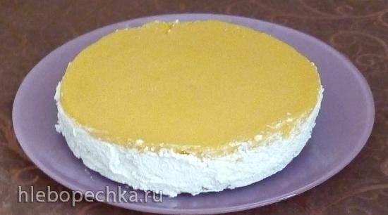 """Муссовый торт """"Кокос-манго"""" для здорового питания"""