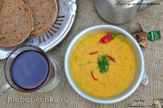 Тыквенно-чечевичный крем-суп