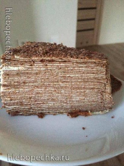 Торт Спартак (30-50 тонюсеньких коржей)