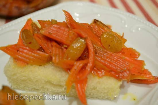 Закуска-перекус из моркови с изюмом (для вегетарианцев и веганов) Закуска-перекус из моркови с изюмом (для вегетарианцев и веганов)