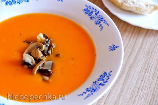 Суп-крем тыквенный с жареными грибами