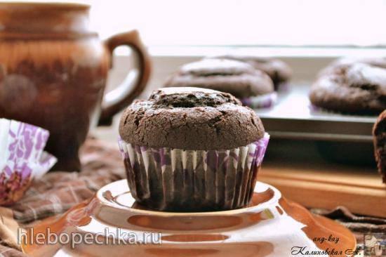 Постные кокосово-шоколадные кексы