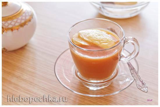 Яблочно-имбирный чай с молоком