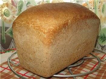 """Хлеб цельнозерновой """"Формовой на закваске"""" ( в духовке)"""