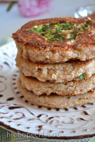 Лепешки гречневые с припеком, без глютена (для вегетарианцев)