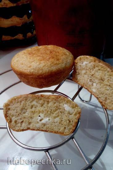 Творожно-овсяные хлебушки в кекснице