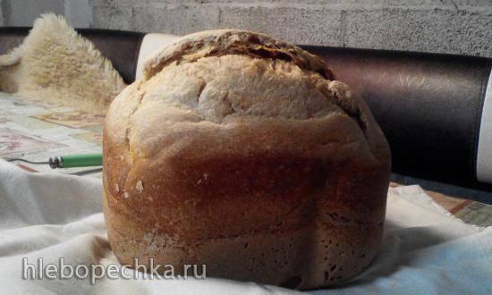 Пшеничный хлеб на пшенично-ржаной закваске в хлебопечке Zelmer 43Z011