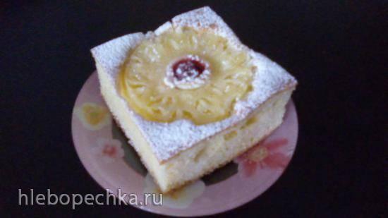 Пирог Пышка с фруктами на кефире