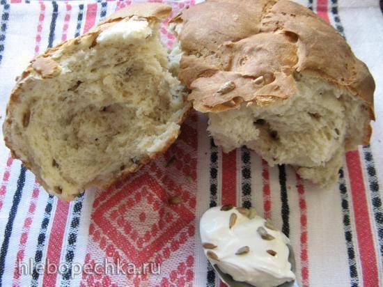 Хлеб сметанный, с семечками (для духовки и хп)