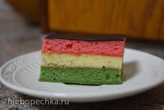 Радужное пирожное (Rainbow cookie)