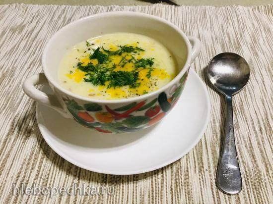 Картофельный суп с беконом и сыром