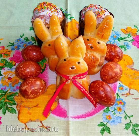 Булочки с сосисками Пасхальные зайчики