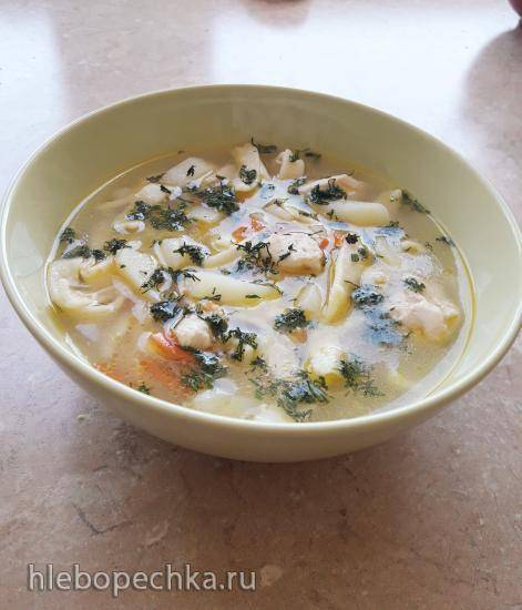 Куриный суп с домашней лапшой в мультиварке cuckoo 1004f