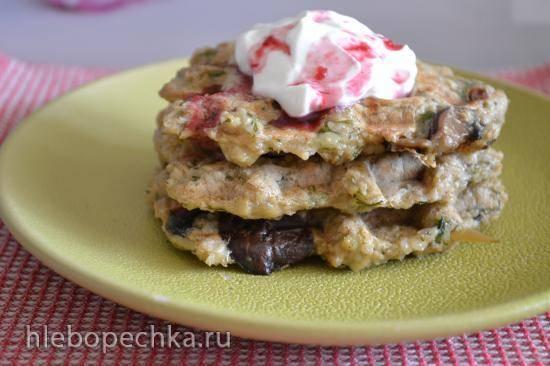 Мягкие вафли овсяно-картофельные с грибами