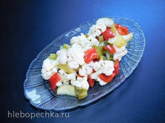Салат из цветной капусты в кисло-сладком маринаде