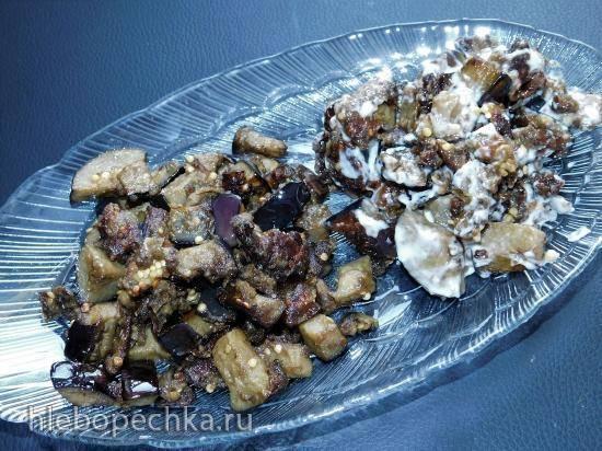Салат из баклажанов с грибным порошком