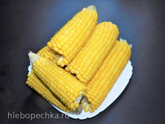 Кукуруза, приготовленная на пару в мультиварке Panasonic