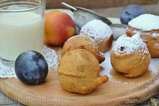 Пончики Венские прачки (фрукты в кляре)