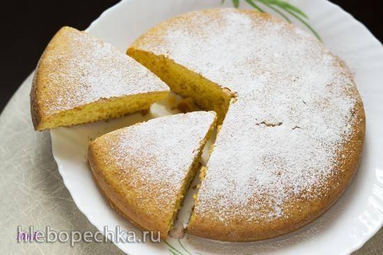 Пирог с молоком и сырой тыквой
